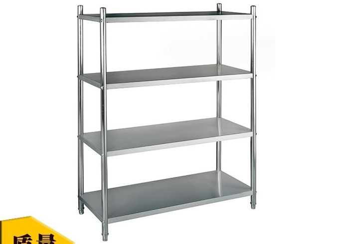 Stainless Steel 4-Layer Shelf for Storage All Flat Holding Panel 1800*500mm