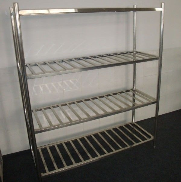 Stainless Steel 4-Layer Round Tube Shelves Kitchen Storage Rack 1200*500mm 1500*500mm