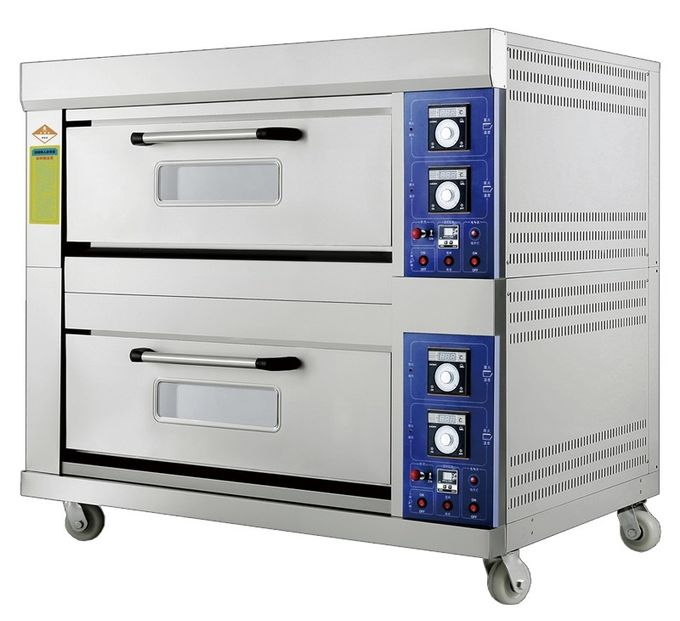 Laminated-Type Gas Bakery Oven With Timing Control and Adjustable Temperature Range 20~400°C Capacity 2 Decks 4 Trays
