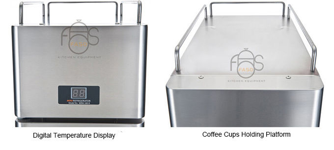 Air Cooled Commercial Refrigerator Freezer , 8 Liter Coffee Shop Mini Milk Cooler