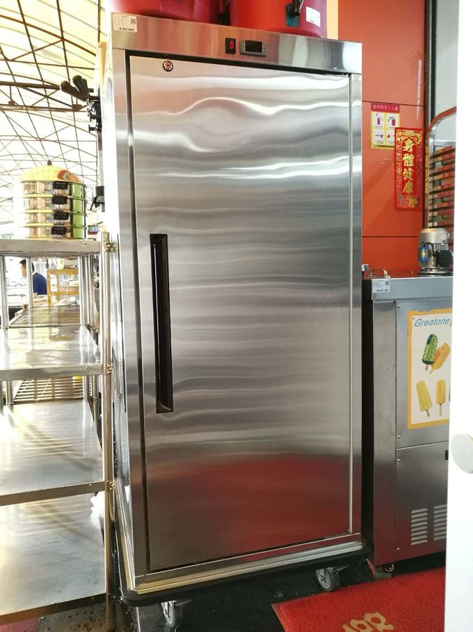Stainless Steel Single Door Heated Holding Cabinet Commercial Food Warmer Cart