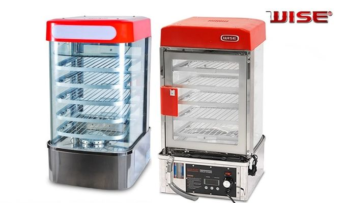 Electric Bread Display Steamer / Food Warmer Display With Automatic Temperature Control Countertop 5 Layers